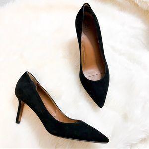 Aquatalia | Melina black suede pointed heel